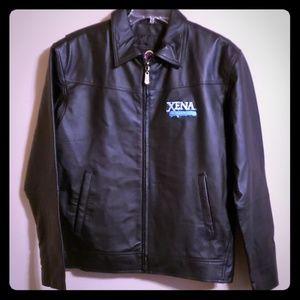 Xena warrior princess black genuine leather jacket